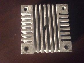 e17 heat sink mk2 & mk3 parts aluminum heat sink cast heat sink e17 heat sink extruder heat sink fan mount heat sink heatsink heat sink lost pla casting nema 17 extruder heatsink nema 17 extruder heat sink rapid manufacture rapid manufacturing