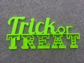 trick treat sign signs & logos fall halloween treat trick trick-or-treat