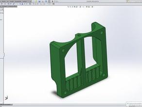 soporte ventilador 60 para doble extrusor kossel 3d printer accessories air deflector air duct deflector doble extruder fan deflector