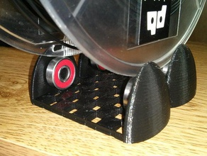 hemispherical spool roller 3d printer accessories filament filament spool holder printerbot printrbot spool spool holder spool roller spool stand