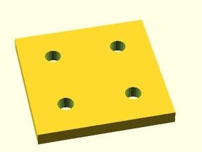 join plate nanobeam model robots 8020 microrax nanobeam openbeam openscad scad