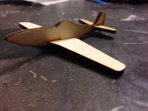 simple p51 mustang juegos y juguetes avión luchador los niños lasercut láser de corte simple de juguete