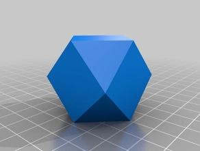 cuboctahedron math art cuboctahedron