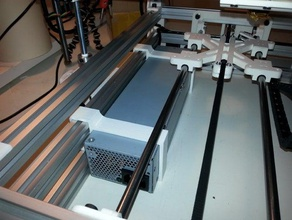 hp dps-600pb psu bracket mendelmax 15 3 layer frame 3d printer parts hp dps-600pb mendel mendelmax 15