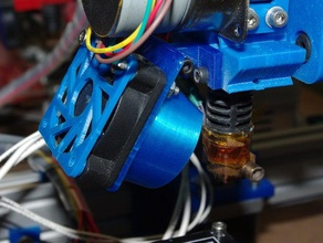 misan's another compact extruder fan deflector v2 3d printer parts deflector fan deflector misan