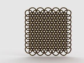 geometric chainlink math art 3d chain chainlink geometric geometry hexagon honeycomb model printable sacred
