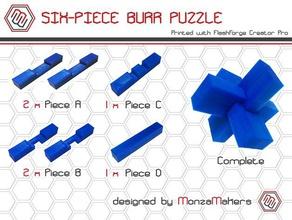 six-piece burr puzzle puzzles 3d puzzle burr burr puzzle construction toys game games puzzle puzzles toy toys