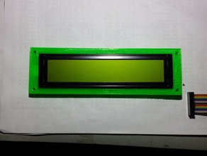character lcd holder - needed simple enclosure 40x4 character lcd so made one engineering 40x4 bezel character display lcd lcd bezel lcd case lcd display lcd mount lcd panel lcd screen