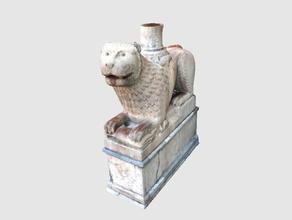 columna de rodamiento de león catedral de parma, italia exploraciones & réplicas 3dvirtualmuseum la arqueología art el patrimonio cultural italia rodamiento