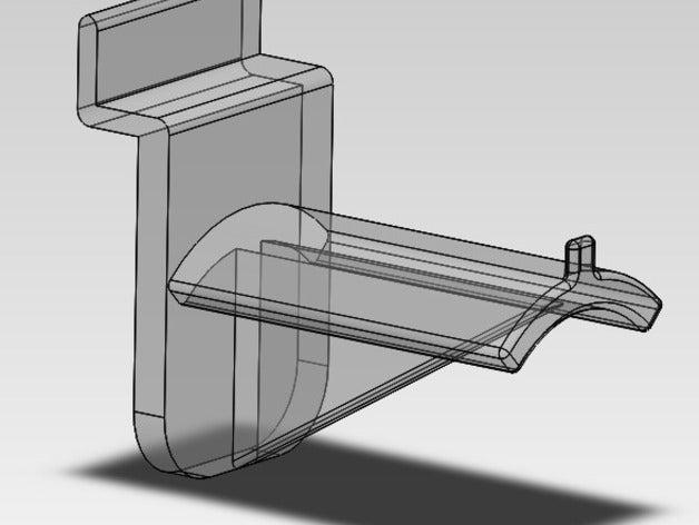 slatwall spool holder 3d