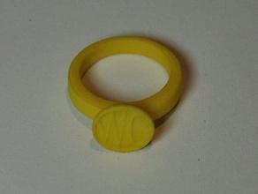 monogram ring jewelry customizable jewelry monogram ring