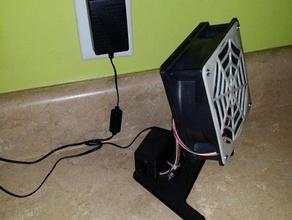120mm fan stand office 120mm 120mm fan 120mm fan stand 3d printed base box cooling create desktop desktop fan fan fan stand variable speed variable speed controller