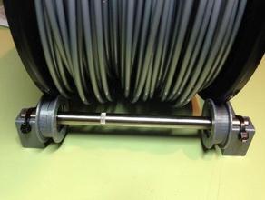 soporte universal para filamento con rodamientos 608zz 3d printer accessories bobina filamento filament filamento filament holder soporte spool spool holder spool mount