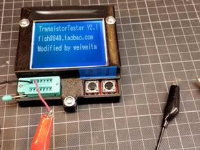 case component tester transistor tester fish8840 electronics case component tester diode esr meter meter tester transistor