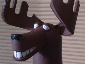 moose bottle topper decor animal animal head canadian moose moose topper wine bottle