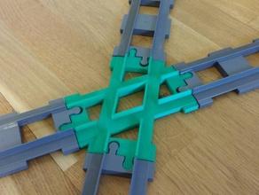 duplo train compatible cross track crossing toy & game accessories crossing duplo duplo crossing duplo tracks duplo train lego lego train