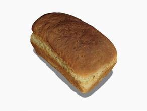 loaf bread - 3d scanned 123d catch food & drink 123d 123d catch 3d scanned autodesk bread catch food loaf scan scanned slice