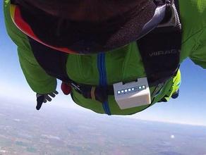 skydive altimetro tuta di monitoraggio sport & fitness all'aperto altimetro altitudine di volo led neopixel il paracadute paracadutismo di monitoraggio tuta alare ws2812