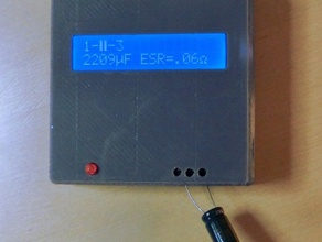 case avr component tester electronics avr case component tester openscad tester transistor tester