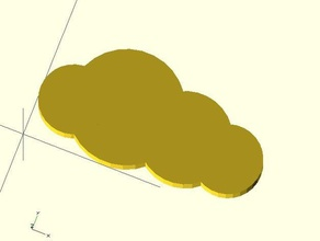 openscad cloud 3d 3dmodel 3dprintable 3dprinting cloud clouds openscad openscadtutorial openscad script script useful script weather