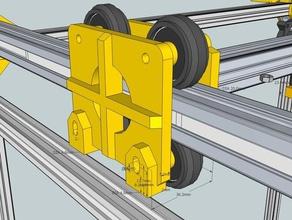 20x20mm aluminium extrusion gantry system 3d printer parts 20x20 extrusion aluminium gantry system aluminium profile h-bot rexroth