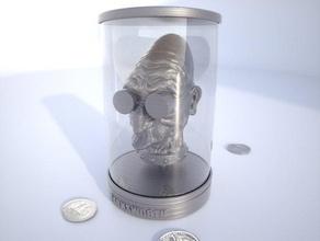 Profesör farnsworth heykeller dr farnsworth balık komik futurama gelecek baş heykel tank oyuncak