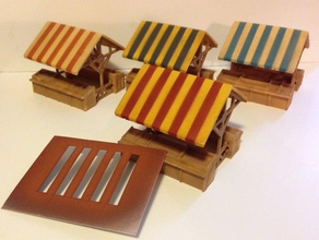 market stall buildings & structures 28mm bolt action market miniatures stall wargaming