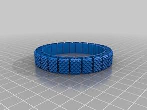 my customized morestretchlet bracelet knurled bracelets
