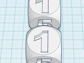 numbered dice 3d printing dice die game number numbered