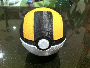 ultra ball magnetic clasp toy & game accessories 3d printed pokeball 3d printed ultraball 3d printed ultra ball cosplay costume easy print pokeball easy print ultraball easy print ultra ball magnet nintendo pokebal pokeball pokeball magnet pokemon poke ball prop ultraball ultra ball ultra ball magnet