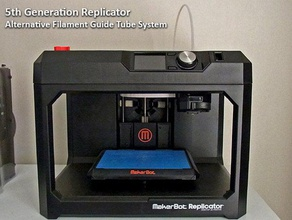 5th generation replicator - filament feed system reduced feeding resistance 3d printer accessories 5th 5th generation extruder extrusion feed feeding filament guide  reduced reliability replicator resistance smart smart extruder spool spool holder system