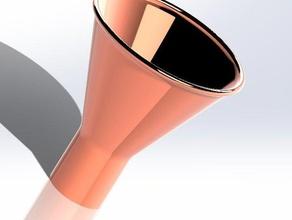 copper funnel 3d printing copper copper funnel funnel