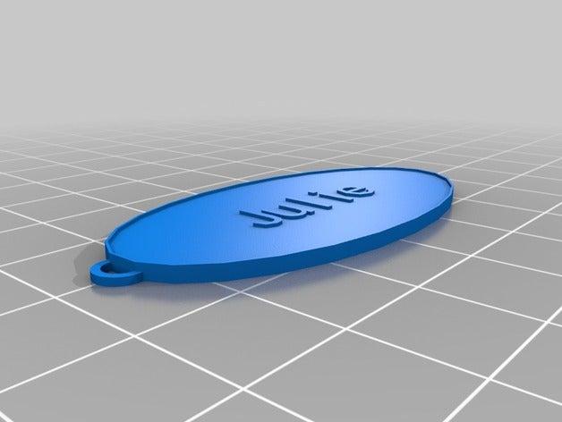 my customized oval keycha
