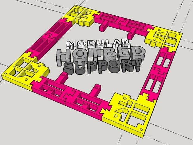 modular hotbed support 3d