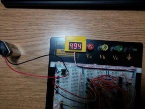 voltmeter breadboard mount electronics breadboard clip led mini mount multimeter tiny voltmeter