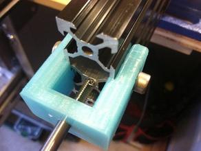 tap jig holder aluminum extrusion 20mm any width misumi openbuilds v-slot makerslide compatible 3d printer parts 20x40 20 20 aluminum extrusion extrusion tap jig m5 makerslide misumi openbuilds tap tapper tapping tap holder v slot
