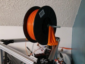 spool strong arm mount delta & kossel printers - universal left right 3d printer accessories arm beefyarms delta delta printer filament-spool filament holder filament spool holder kossel kossel- kossel mini mini kossel spool spoolholder spool holder spool mount