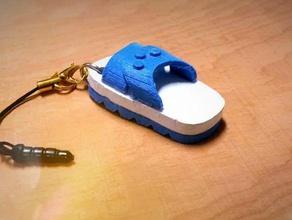blue white slipper headphone dust plug 3d printing dust dust plug headphone headphones hole plug htc htc desire htc one htc one m8 phone phone plug slipper