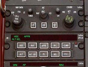 altitudine set - autopilota aps-65 apc65 collins - beechcraft b200 l'aviazione della cabina di guida