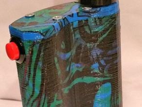 flask mod dual 18650 vape diy 18650 510 battery sled boxmod dontdripndrive ecig ecigarette flask flask ecig flask vape sled vape vapor
