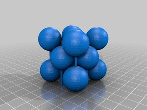 face-centered cubic unit cell full atoms learning crystal structure face-centered cubic unit cell
