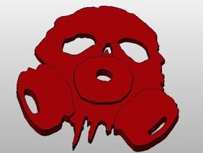 teschio maschera antigas portachiavi in frantumi rpg giochi il cyberpunk i dadi distopico gioco maschera a gas orrore keychain chiave a catena kickstarter nuovo gioco di ruolo giochi di ruolo rpg giochi di ruolo in frantumi cranio steampunk da tavolo table top