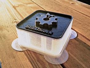 seedstack - open 3d printable seed sprout system containers box container food grow growbox growing kitchen mung ohl openscad open source seed seeds sprout sprouter zombie