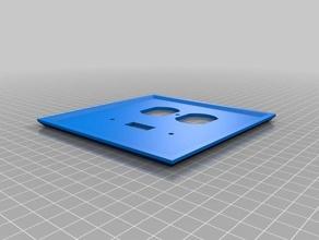 elec faceplate plug toggle household customized