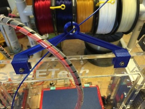 filament guide tower center - prusa i3 8mm acrylic 3d printer parts cable guide filament filament clip filament guide filament guide dust guard filament holder geeeeetech geeetech i3b geeetech i3b acryli geetech guide i3 rework prusa prusai3 prusa i3 prusa i3 rework
