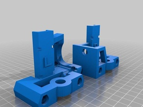 prusa mendel i2 x-axis guides using brass lead screw flanges 3d printing prusa prusa i2 prusa mendel x-axis x axis