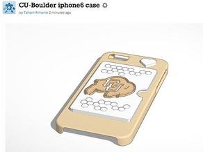 cu-boulder iphone6 case 3d printing boulder credit card credit card holder cu iphone6 iphone6 case