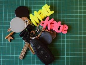 iamburny's customizable text - name keyring keyfob organization 3d keychains 3d printer 3d text custom customizable customize customized customizer keychain keychains keyfob keyring keys keytag key chain name name tag tag text