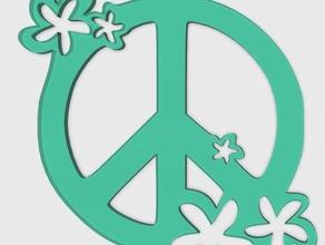 peace flower jewelry 3d charm 3d keychains 3d peace charm charm peace flower peace peace key peace pendant pendant