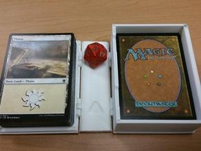 mtg - magic gathering 75 card box magic gathering 100 card sleeved box 3d printing card case game magic gathering mtg